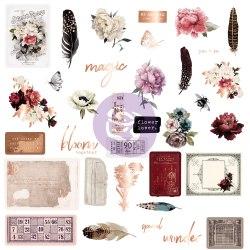 Midnight Garden, набор высечек, тегов и акцентов, 35 шт. Prima Marketing Ink