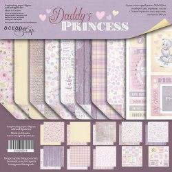 Набор двусторонней бумаги 20х20см, 10 листов Scrapmir Daddy's Princess