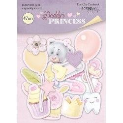 Набор высечек для скрапбукинга 47 шт, Scrapmir Daddy's Princess