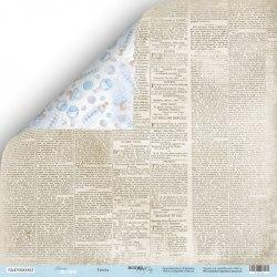 "Лист двусторонней бумаги ""Газета"", 30х30 см. Scrapmir Mommy's Hero"