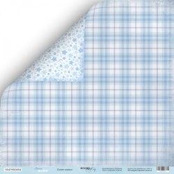 "Лист двусторонней бумаги ""Синее одеяло"", 30х30 см. Scrapmir Mommy's Hero"