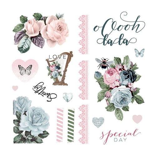 Poetic Rose, набор: высечки картонные и ацетатные, Prima Marketing Ink