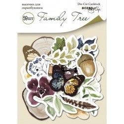 Набор высечек для скрапбукинга 59 шт., Scrapmir Family Tree