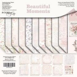 Набор двусторонней бумаги, 20х20 см, Scrapmir Beautiful Moments