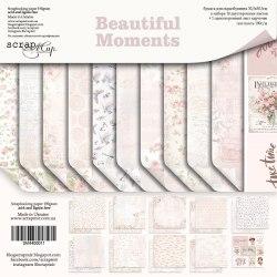 Набор двусторонней бумаги, 30х30 см, Scrapmir Beautiful Moments