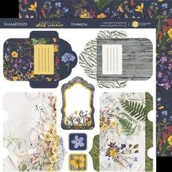 """Лист двусторонней бумаги """"Конверты"""", 20х20см Scrapmir Herbarium Wild Summer"""