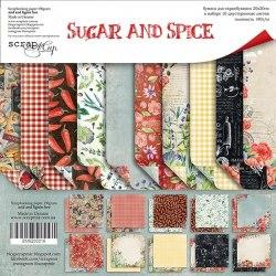 Набор двусторонней бумаги, 20х20 см, Scrapmir Sugar and Spice