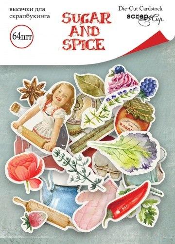 Набор высечек для скрапбукинга 64 шт, Scrapmir Sugar and Spice