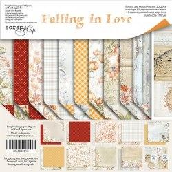 Набор двусторонней бумаги, 20х20 см, Scrapmir Falling in Love