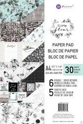 Набор скрапбумаги, 6 двусторонних листов, А4 формата, Prima Marketing Ink Flirty Fleur