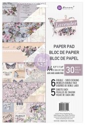 Набор скрапбумаги, 6 двусторонних листов, А4 формата, Prima Marketing Ink Lavender