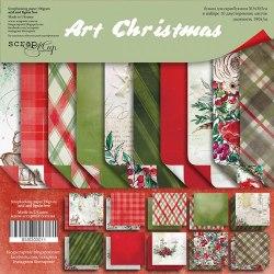 Набор двусторонней бумаги, 30х30 см, Scrapmir Art Christmas