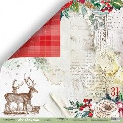 """Лист двусторонней бумаги """"Подарки"""" 30x30 см., Scrapmir Art Christmas"""