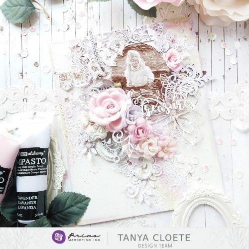 Набор скрапбумаги 30х30 см с золотым фольгированием, Prima Marketing Ink Lavender Frost