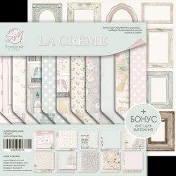 Набор двусторонней бумаги, 20х20 см, Scrapmir La Creme