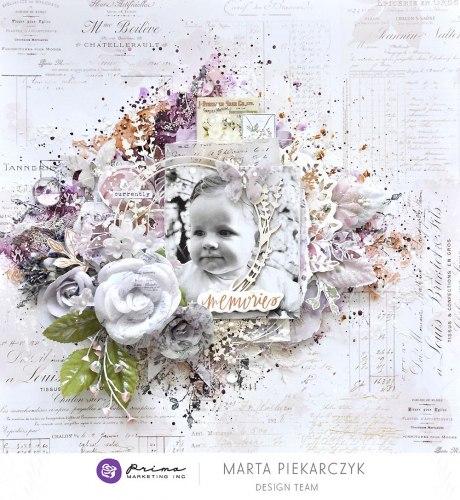 Набор скрапбумаги А4 формата, Prima Marketing Ink Lavender Frost