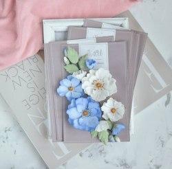 """Набор цветов """"Шиповник"""" голубой, Pastel Flowers"""