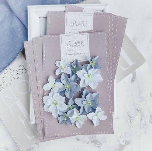Гортензии дуболистные, цвет голубой Pastel Flowers