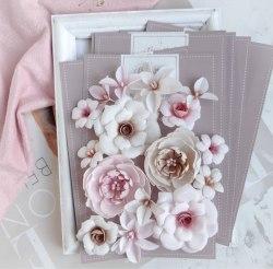 """Набор цветов """"DIAMOND"""" бежево-розовый, Pastel Flowers"""
