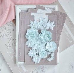 """Набор цветов """"Базовый микс"""" мятный, Pastel Flowers"""