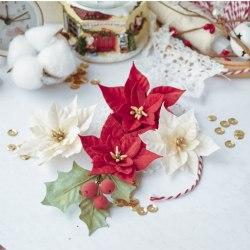 "Набор цветов ""Сказочная зима"" пуансетии, Pastel Flowers"