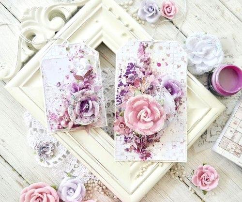 Набор карточек для журналинга, 15 штук, 3х4 дюйма, Prima Marketing Ink Lavender Frost