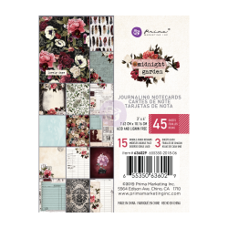 Набор карточек для журналинга, 15 штук, 3х4 дюйма, Prima Marketing Ink Midnight Garden