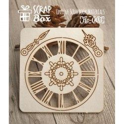 """Чипборд набор """"Часы"""" №1 ScrapBox"""