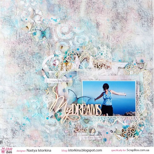 "Чипборд надпись ""My Dreams"" ScrapBox"