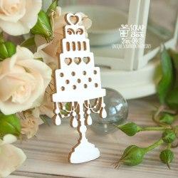 Чипборд свадебный торт ScrapBox
