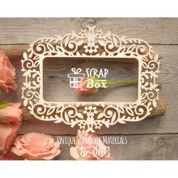 Чипборд рамка растительный орнамент с цветами ScrapBox