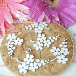 Чипборд веточки с цветочками 5шт ScrapBox