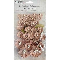 Набор цветов Botanical Potpourri Flowers, 49 шт. цвет Hazelnut, 49 And Market