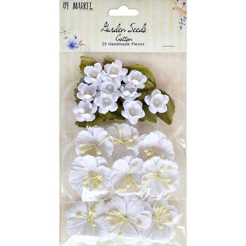Набор цветов Garden Seed Flowers, 29 шт., цвет Cotton (белый), 49 And Market
