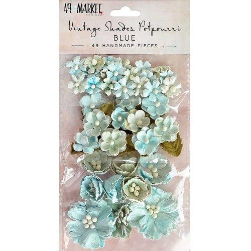 Набор цветов Vintage Shades Potpourri, 49 шт., цвет Blue, 49 And Market