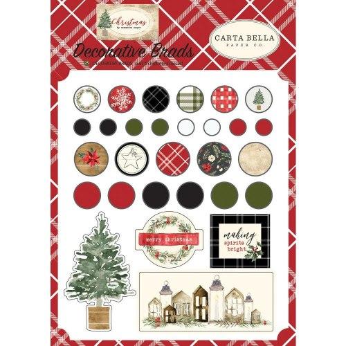 Набор брадс Christmas, 25 штук Carta Bella