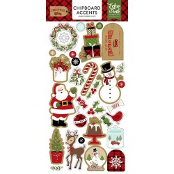 "Chipboard 6""X13"" дюймов чипборд, Echo Park Celebrate Christmas"
