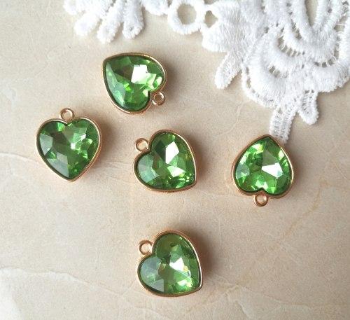 Подвеска Сердце, зеленый