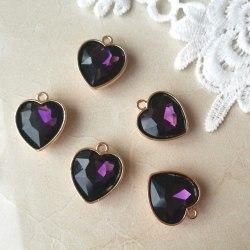 Подвеска Сердце, цвет фиолетовый