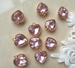 Подвеска Сердце, цвет нежно-розовый