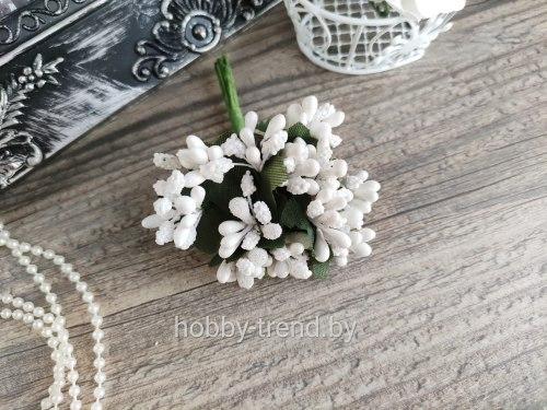 Букет тычинок, 12 шт., цвет белый