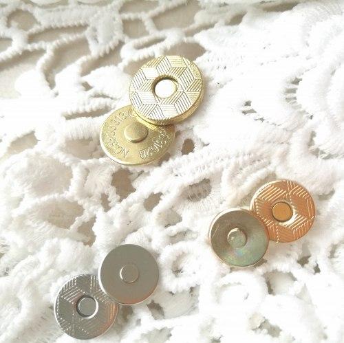 Магнитная кнопка, 14 мм, ультратонкая, цвет золото