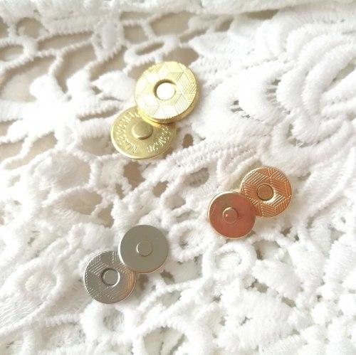 Магнитная кнопка, 10 мм, ультратонкая, цвет золото