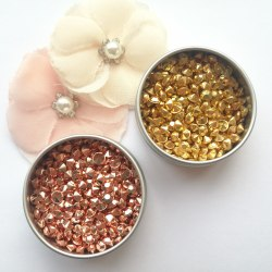 Кристаллы 4,5 мм золото и розовое золото