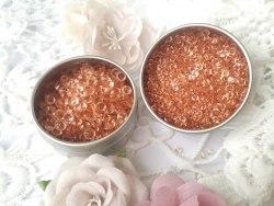 Кристаллы 4,5 мм и 3 мм, цвет розовое золото
