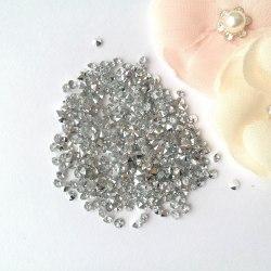 Кристаллы 3 мм, с фольгированной основой, цвет прозрачный