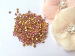 Кристаллы 3 мм, с фольгированной основой, цвет нежный розовый