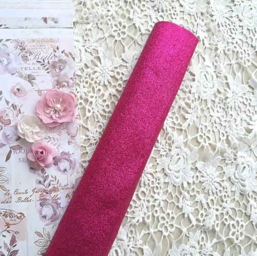 Глиттерная ткань, цвет малина