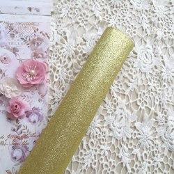 Глиттерная ткань, цвет золото