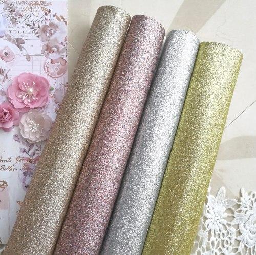 Глиттерная ткань, цвет Pink Royal